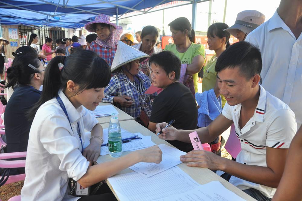 鹤城举办乡镇专场招聘会 为村民提供300个就业岗位